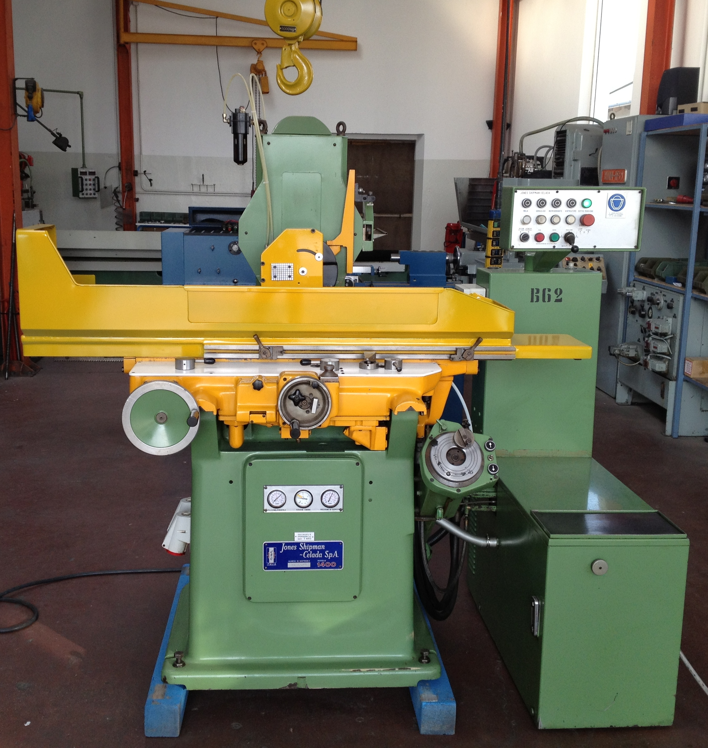TANGENTIAL GRINDING MACHINE JONES SHIPMAN SERIES 1400 USED RECONDITIONED